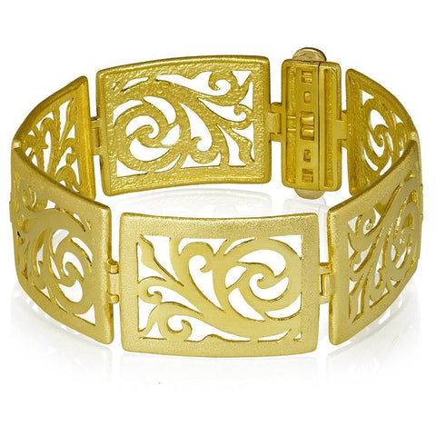 Sun Cuff in Silver, Gold and Black Rhodium