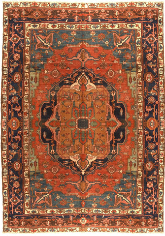 Antique Persian Sarouk Mohajeran Rug
