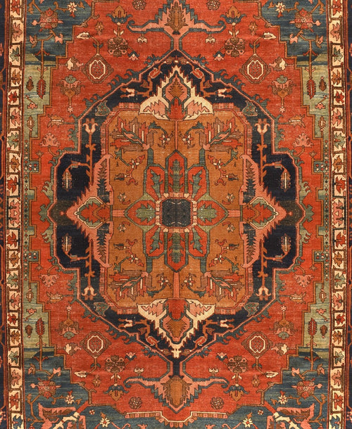 Antique Persian Bakshaish Rug