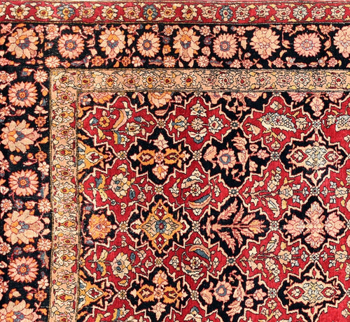 Antique Persian Isfahan Rug