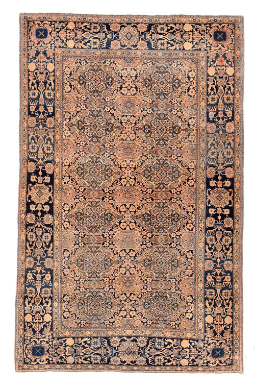 Antique Persian Mohtasham Kashan Rug