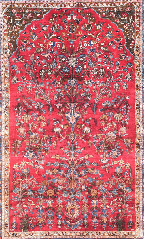 Antique Hand Made Kashan Persian Rug