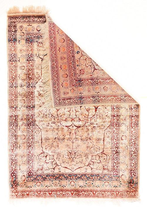 Antique Hand Made Tabriz Haji Jalili Persian Rug