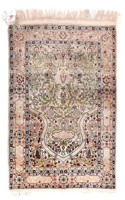 Antique Hand Made Hereke Turkish Rug