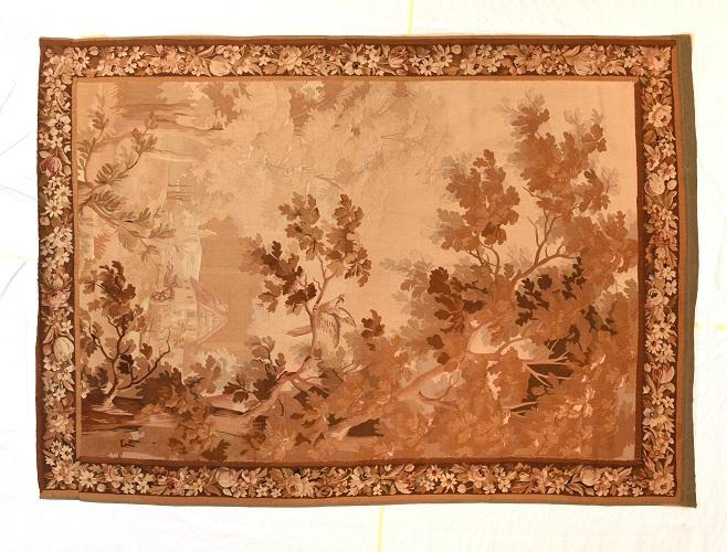 Antique Hand Made French Tapestry
