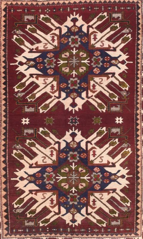 Antique Persian Tribal Heriz DesignRug