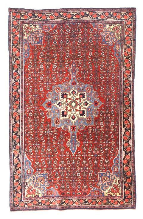 Semi Antique Hand Made Bidjar Persian Rug