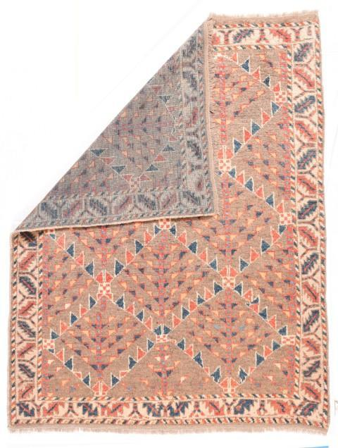 Semi Antique Hand Made Veramin Persian Rug