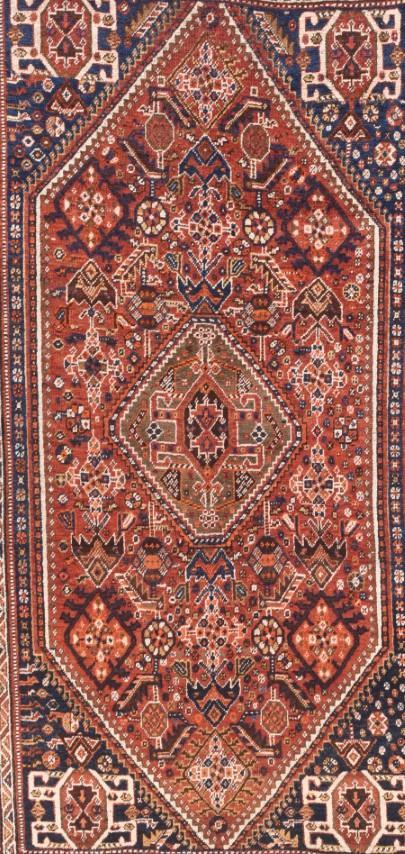 Antique Hand Made Ghashgaie Persian Rug