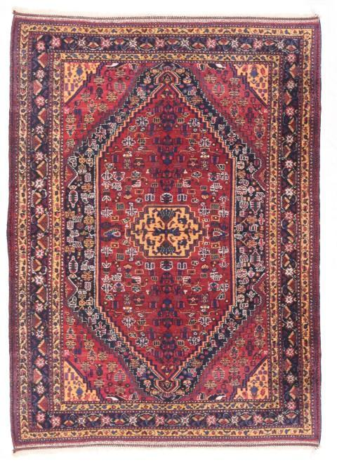 Semi Antique Hand Made Afshar Persian Rug