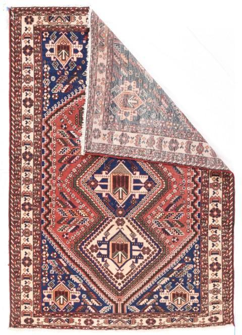 Semi Antique Hand Made Qashqai Persian Rug