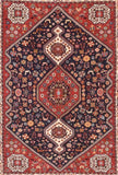 Semi Antique Hand Made Kashkul Persian Rug