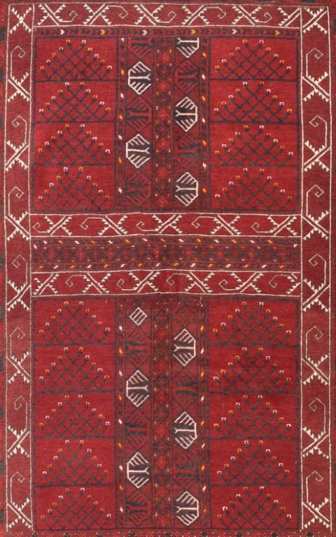 Semi Antique Hand Made Bukara Russian Rug