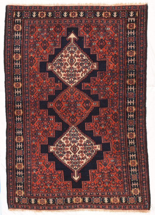 Antique Hand Made Senneh Persian Rug