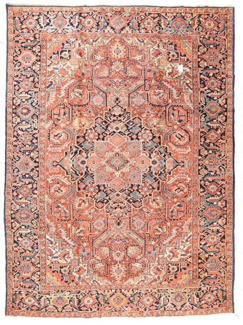 Antique Hand Made Heriz Persian Rug
