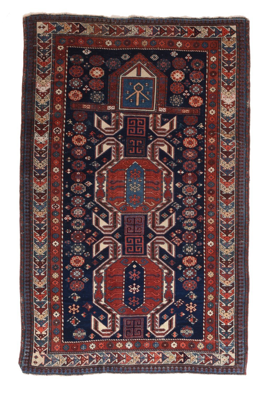 Antique Russian Shirvan Rug