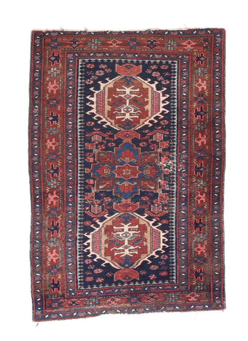 Antique Hand Made  karajeh Heriz Persian Rug