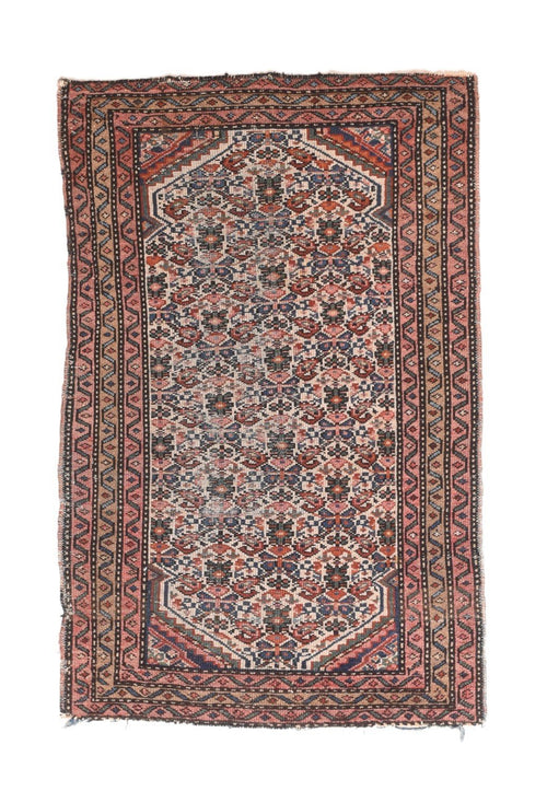 "Antique Persian Afshar Rug, Size 2'6"" x 3'11"""