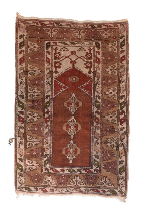 Semi Antique Hand Made Turkish Rug