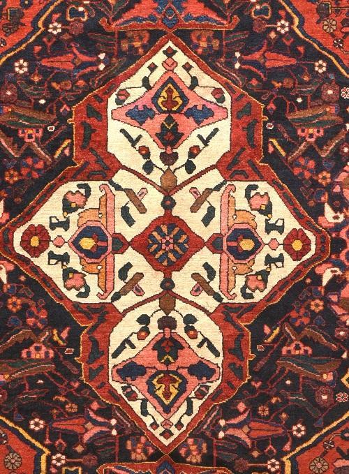 Antique Hand Made Bakhtiari Persian Rug