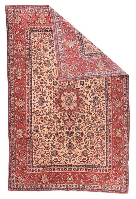 Semi Antique Persian Isfahan Rug