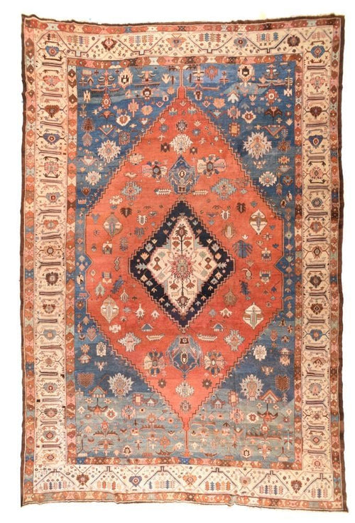 Antique Hand Made Bakshaish Persian Rug