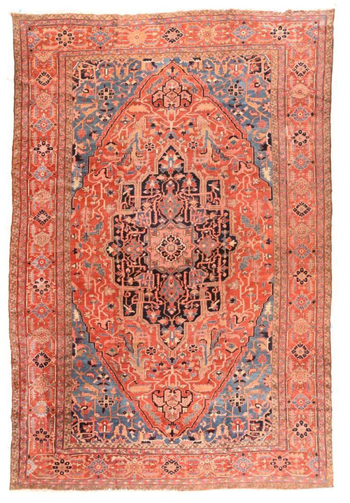 Antique Hand Made Heriz Serapi Persian Rug