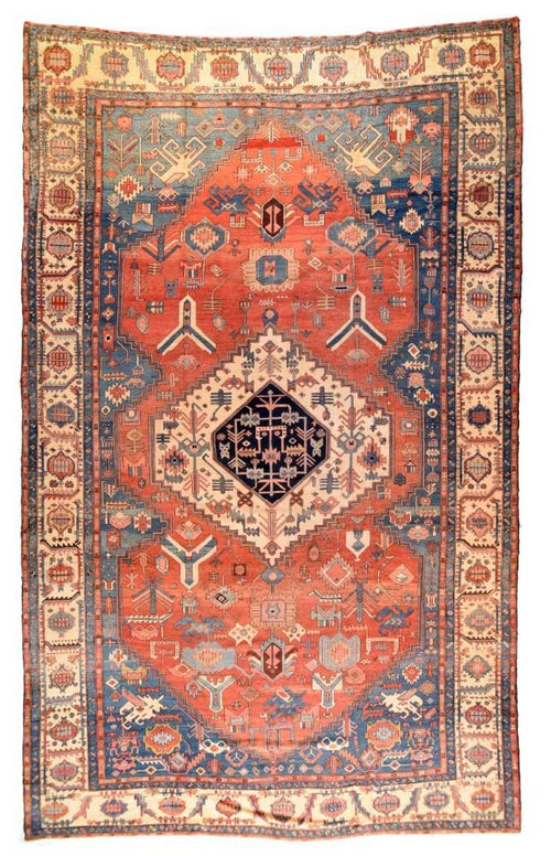 Antique Hand Made Serapi Bakhshaiesh Persian Rug