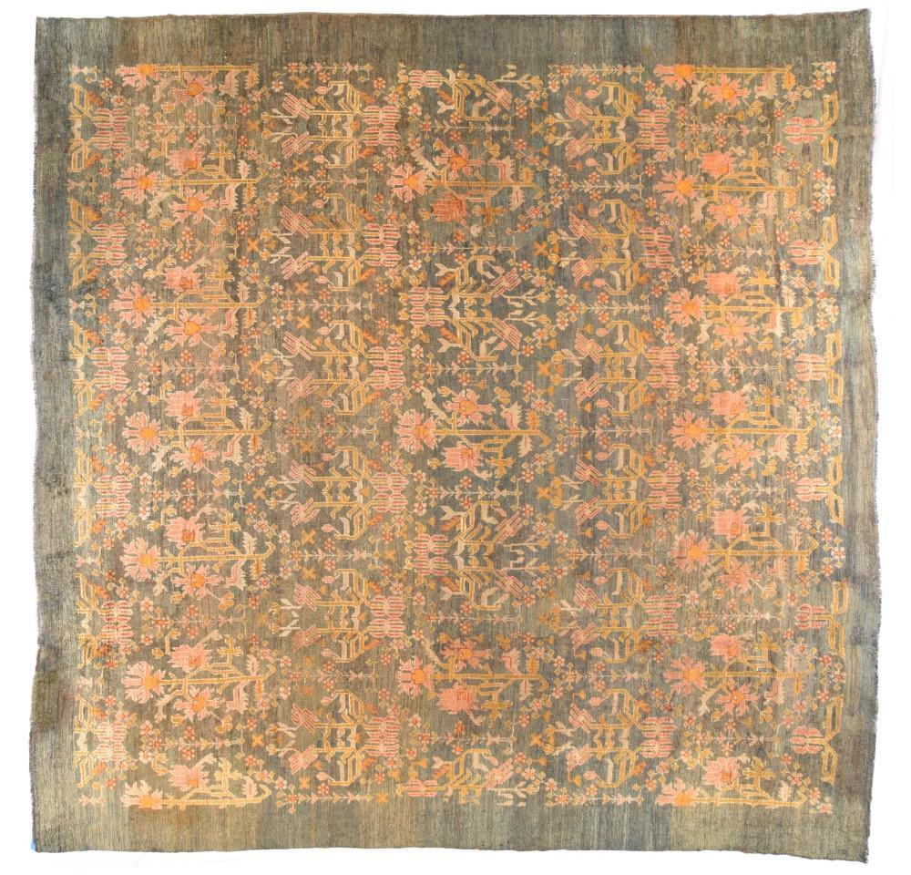 Antique Hand Made Oushak Turkish Rug