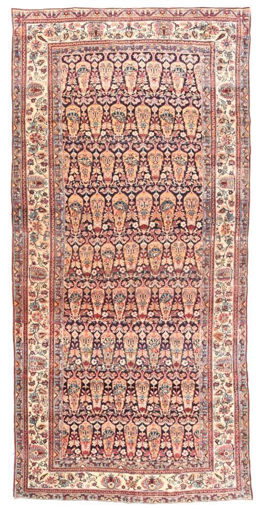 Antique Hand Made Lavar Kerman Persian Rug