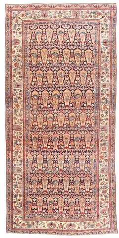 Antique Hand Made Mohtasham Kashan Persian Rug