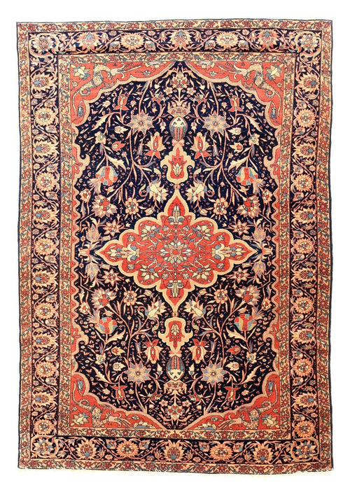Antique Persian Sarouk Farahan Rug