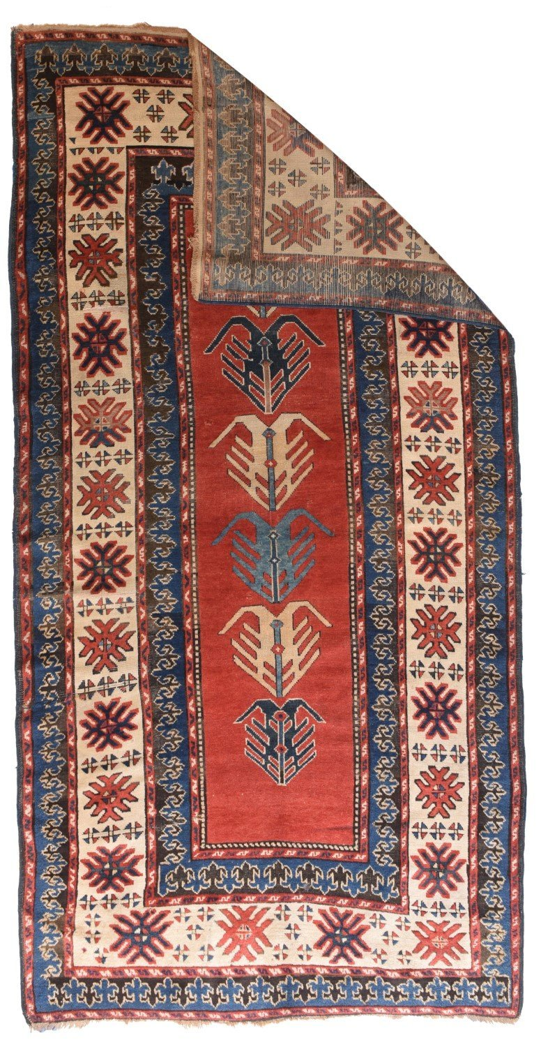 Antique Russian Kazak Rug