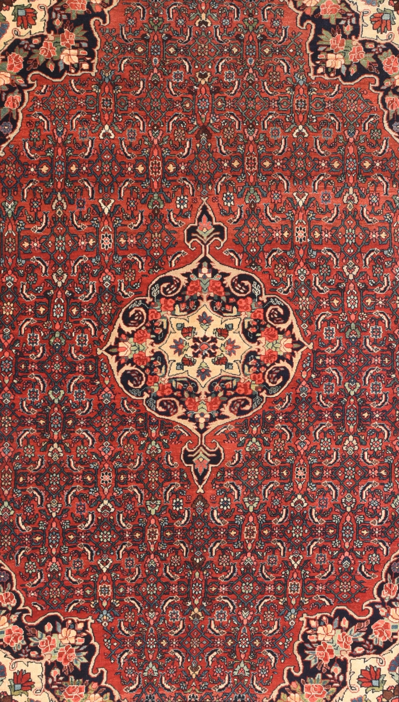 Antique Hand Made Bidjar Persian Rug