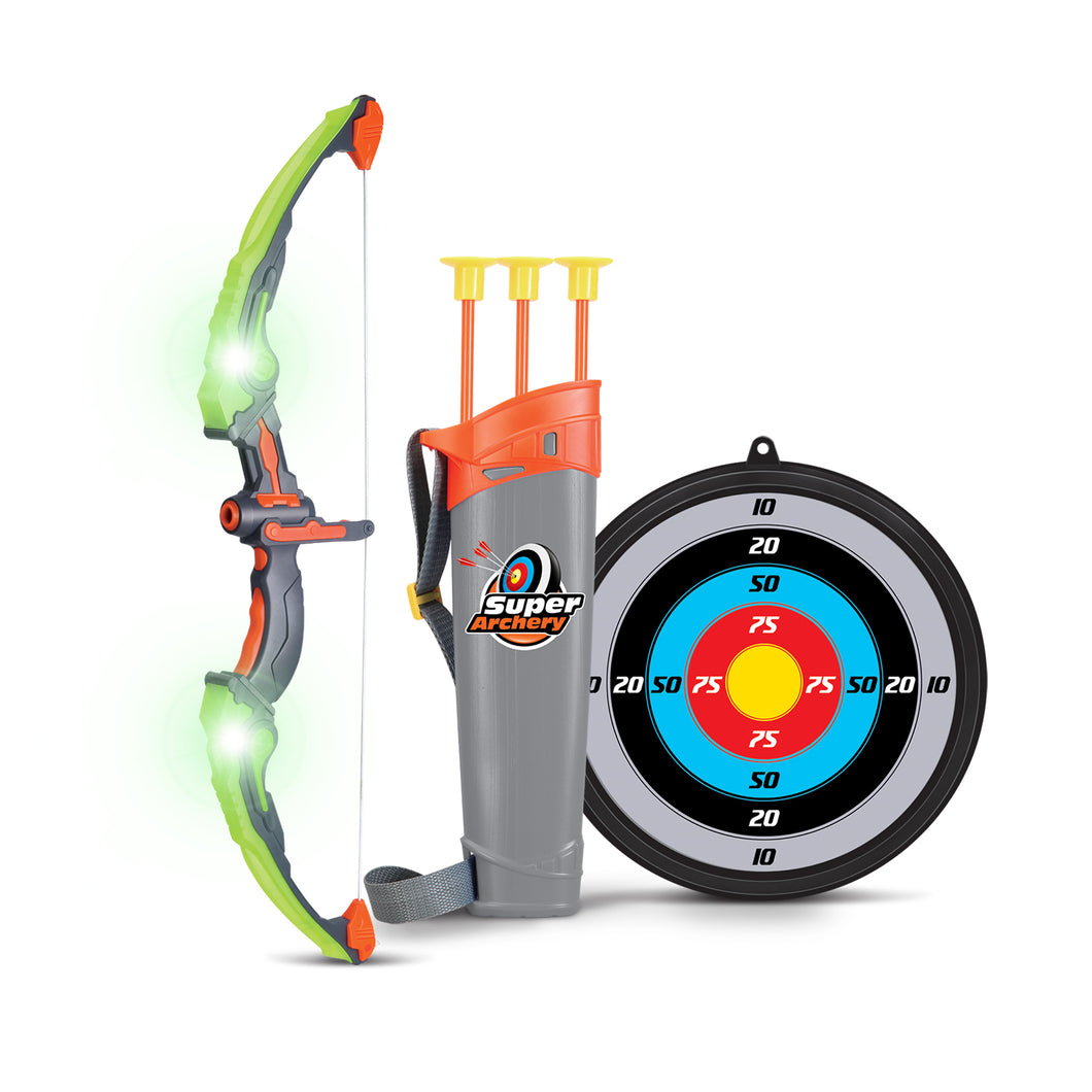 Kids Bow and Arrow with 3 Arrows,Target and Quiver (2 Colors) - SainSmart Jr.