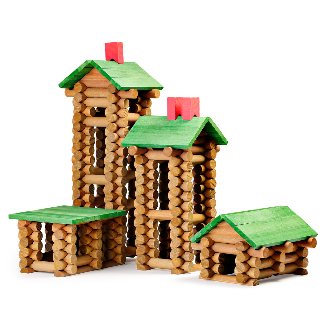 Wooden STEM Building Blocks, 450 PCS/Set - SainSmart Jr.
