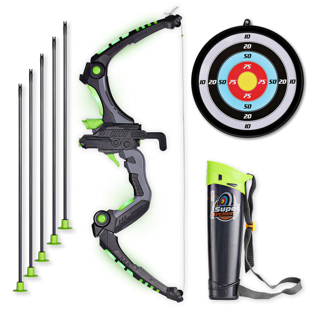 Kids Bow and Arrows with 5 Suction Cup Arrows (2 Colors) - SainSmart Jr.