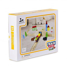 Wooden Train Set with Double-Side Train Tracks, 37 PCS - SainSmart Jr.