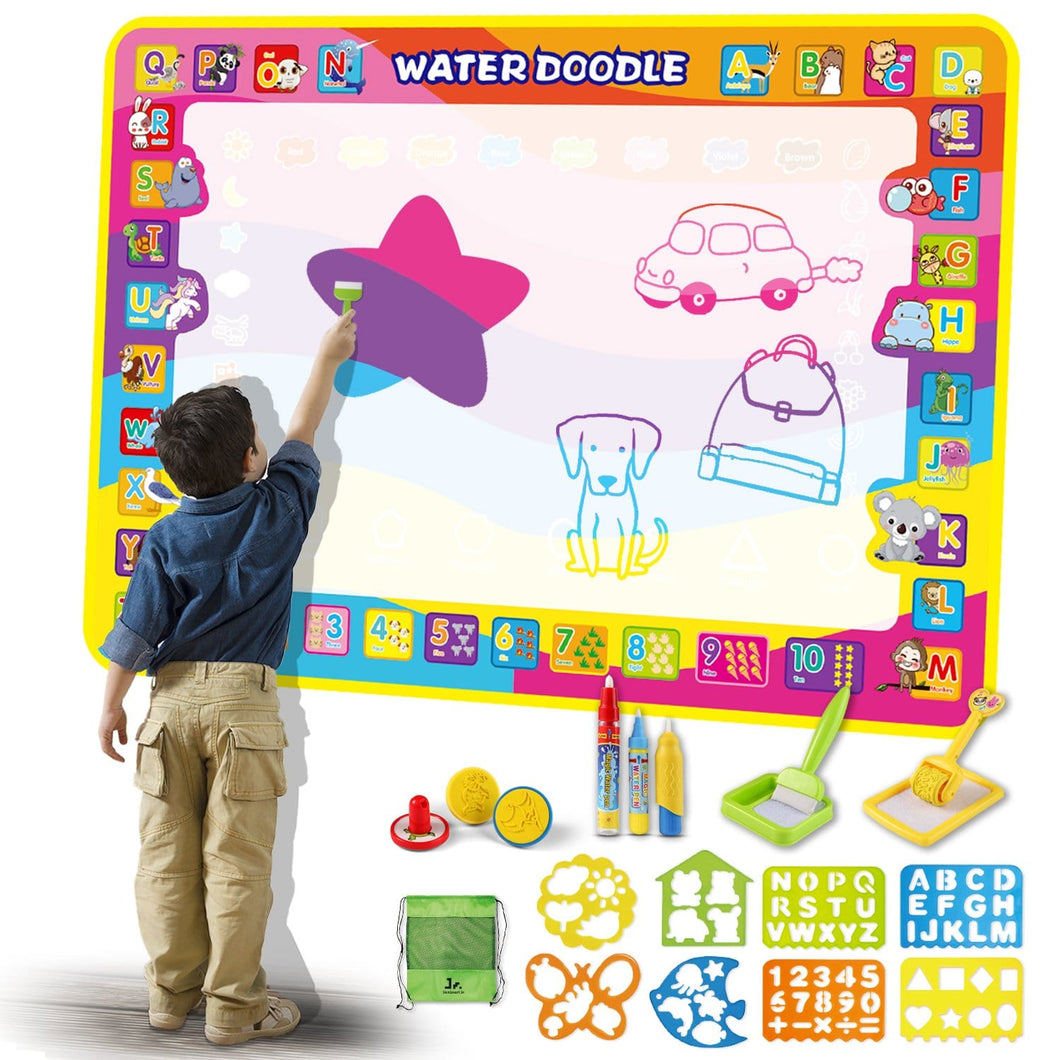 Water Painting Doodle Mat for Kids (FREE Bag Included)