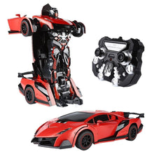 RC Transform Car Robot with One Button Tranforming and Realistic Engine Sound(2 Colors) - SainSmart Jr.