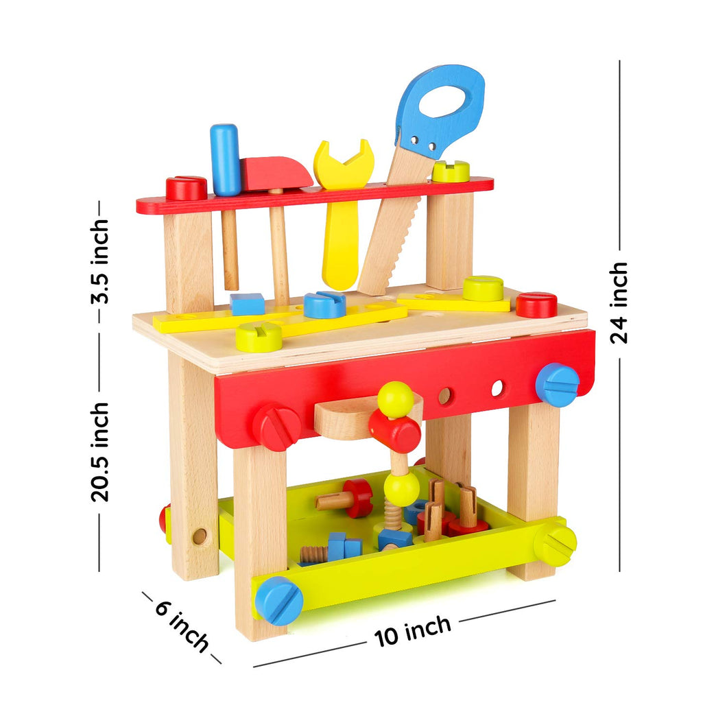 Sainsmart Jr Wooden Bench Wooden Workbench With Tools For Toddlers K