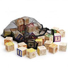 Wooden ABC Blocks with Mesh Bag, 40PCS - SainSmart Jr.