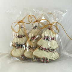 6 Christmas Tree Iced Shortbread Cookies