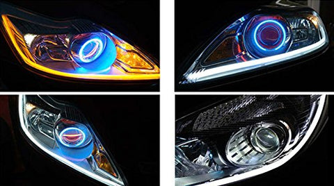 Universal flowing led light strips 1 pair pluto deals these flowing light strips will turn heads on the road aloadofball Image collections