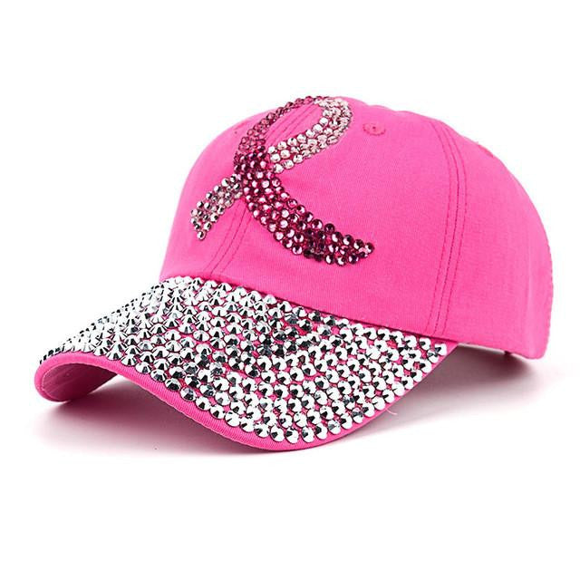 Handmade Breast Cancer Awareness Crystal Hat – Pluto Deals 5eb23b3cd3