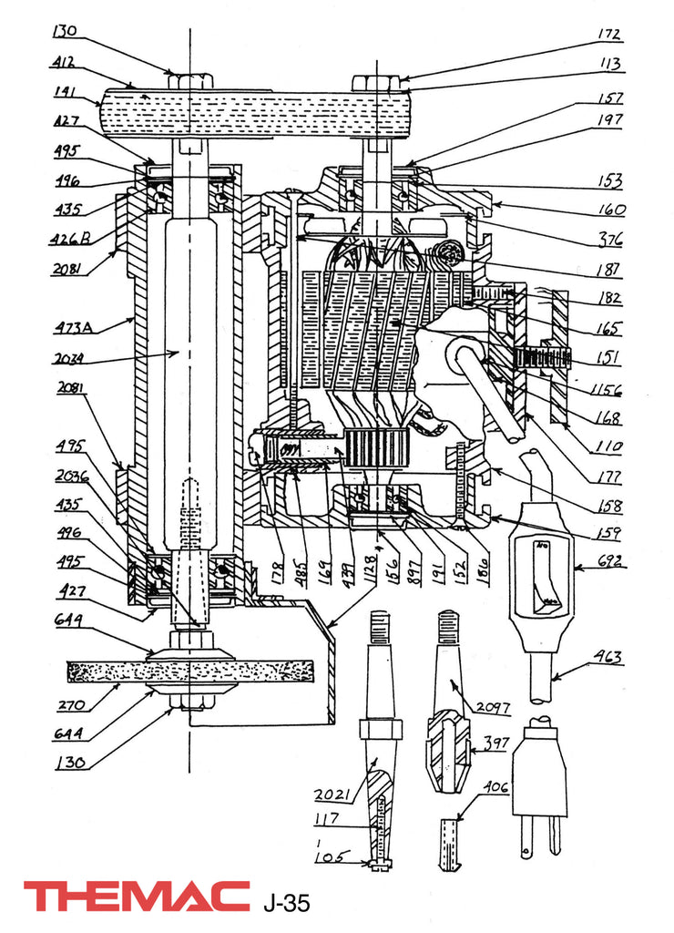 Themac J-35 Parts Diagram