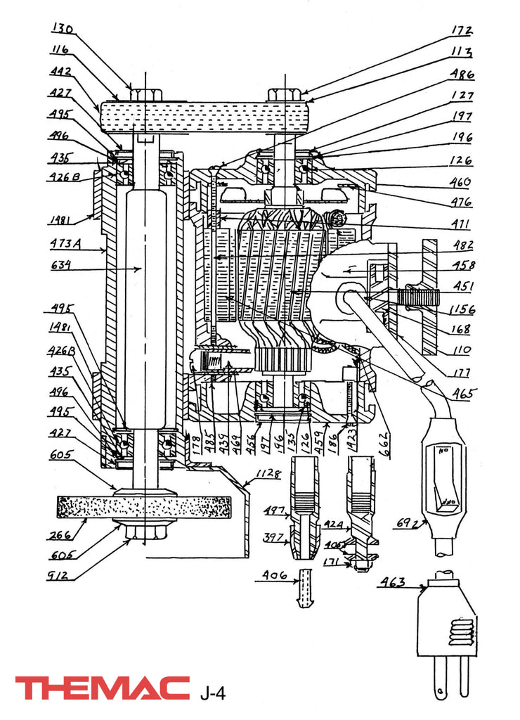 Themac J-4 Parts Diagram