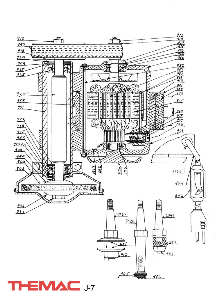 Themac J-7 Parts Diagram