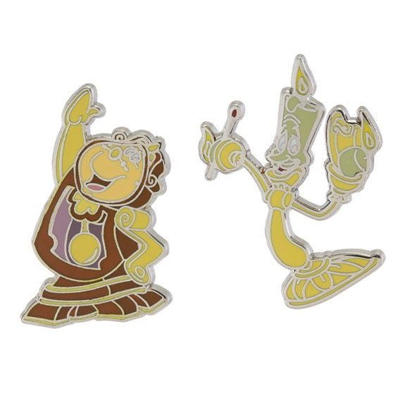 Lumiere & Cogsworth Pin Set