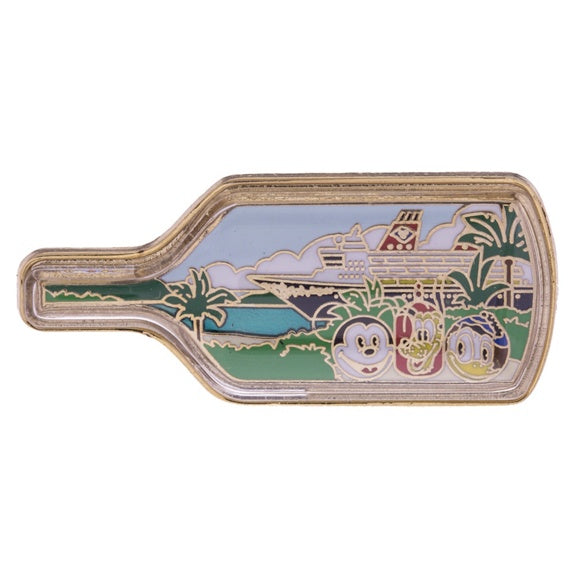 Disney Cruise Line Ship in Bottle Pin